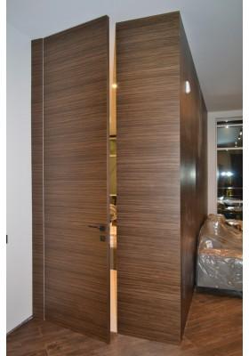 Скрытые двери шпон
