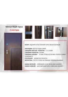 Металл-МДФ 2 контура