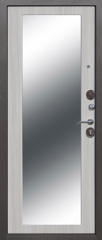 Троя 110 мм MAXI зеркало Серебро/Белый ясень